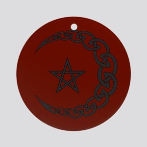 Celtic Moon Ornament (Round)