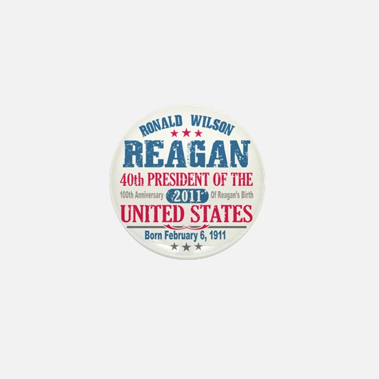 Ronald Reagan 4A Mini Button