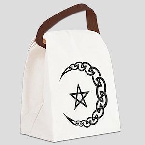 Celtic Moon Canvas Lunch Bag