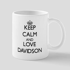 Keep calm and love Davidson Mugs