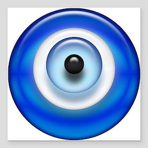 "Evil Eye Square Car Magnet 3"" x 3"""