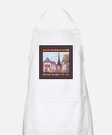 Paris EIffel Tower pointillism landscape Apron