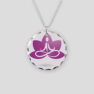 purple 5 Necklace Circle Charm