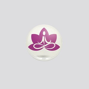 purple 5 Mini Button