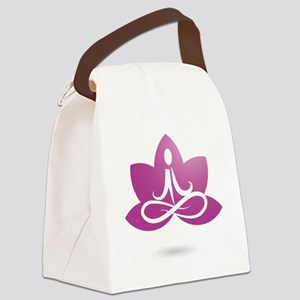 purple 5 Canvas Lunch Bag