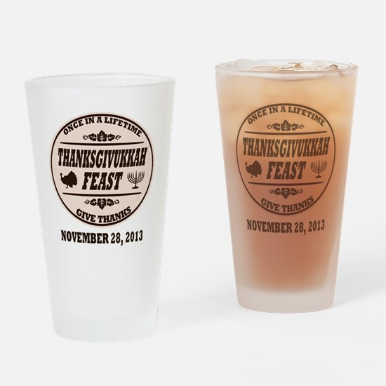 Once in a Lifetime Thanksgivukkah Drinking Glass