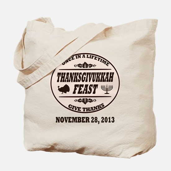 Once in a Lifetime Thanksgivukkah Tote Bag