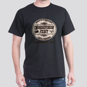 Vintage Once in a Lifetime Thanksgivu Dark T-Shirt