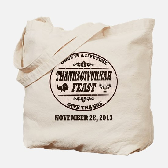 Vintage Once in a Lifetime Thanksgivukkah Tote Bag
