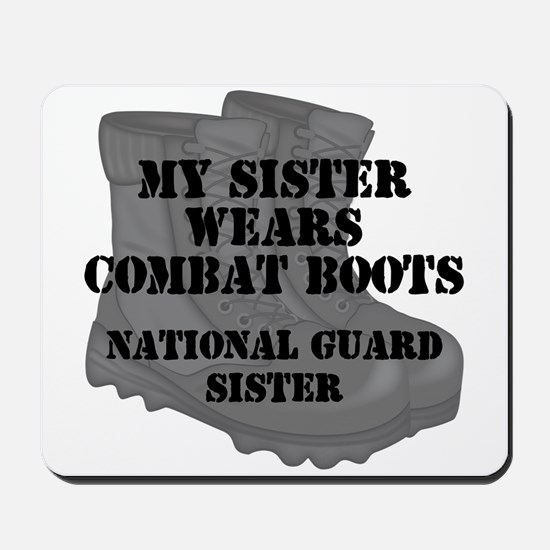 National Guard Sister Combat Boots Mousepad