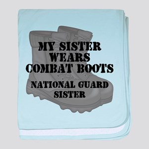 National Guard Sister Combat Boots baby blanket