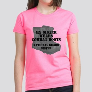 National Guard Sister Combat Boots T-Shirt