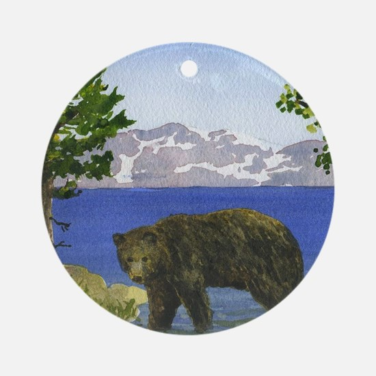 Funny Lake tahoe Round Ornament