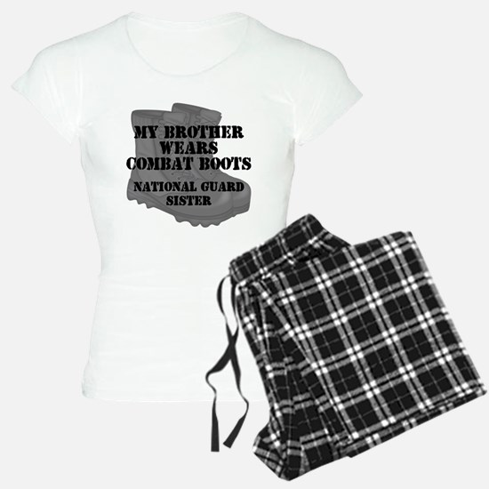 National Guard Sister Brother Combat Boots Pajamas