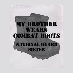 National Guard Sister Brother Combat Boots Throw B