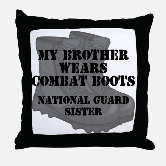 National Guard Sister Brother Combat Boots Throw P