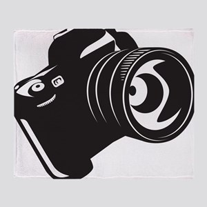 Camera - Photographer Throw Blanket