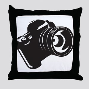 Camera - Photographer Throw Pillow