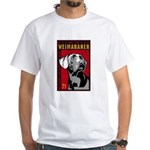 Obey the Weimaraner! 2-sided White T-Shirt