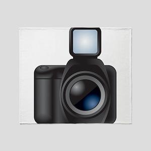 Camera - Photographer Throw Blanket