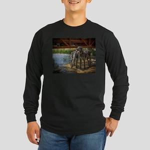 Under The Bridge Long Sleeve Dark T-Shirt