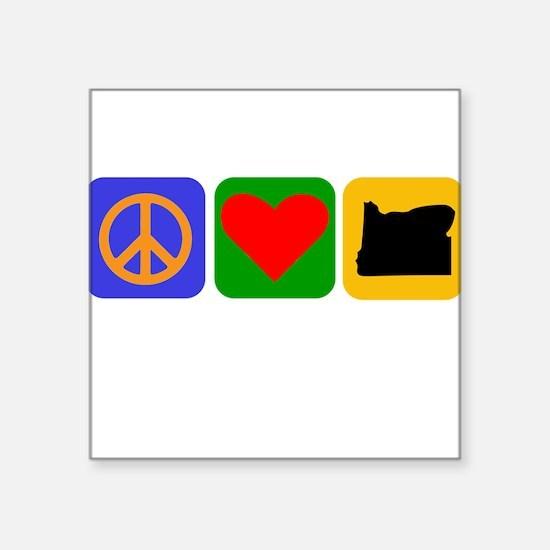 Peace Love Oregon Sticker