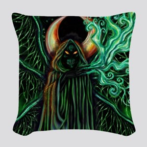Samhain King Woven Throw Pillow