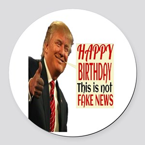 Happy Birthday Round Car Magnet