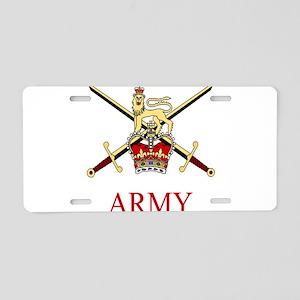 British Army Aluminum License Plate
