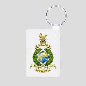 Royal Marines Aluminum Photo Keychain