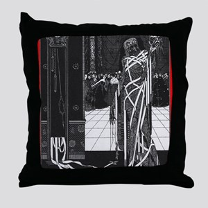 The Masque of the Red Death Throw Pillow