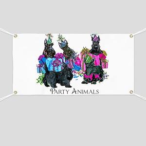 Scottish Terrier Party Animals Banner