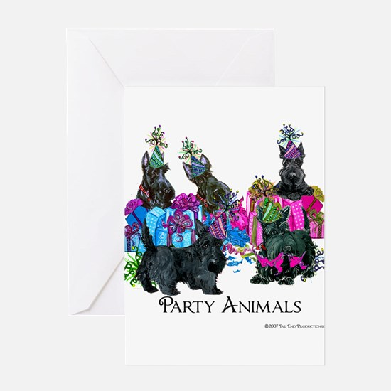 Scottish Terrier Party Animals Greeting Card