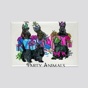 Scottish Terrier Party Animals Rectangle Magnet