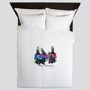 Scottish Terrier Party Animals Queen Duvet