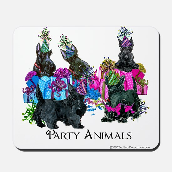 Scottish Terrier Party Animals Mousepad