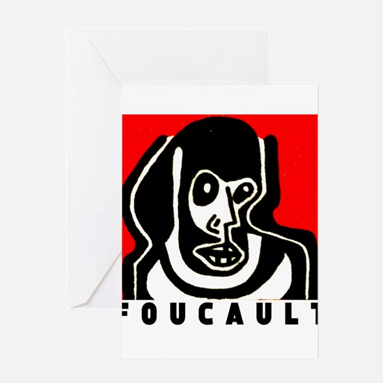 FOUCAULT philosophy Greeting Card