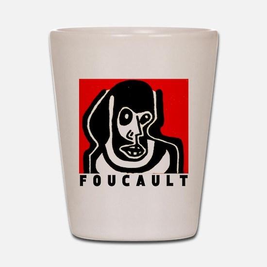 FOUCAULT philosophy Shot Glass
