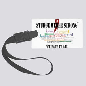 We Face It Luggage Tag