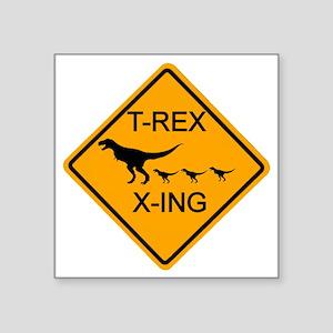 "rs_T-REX X-ING Square Sticker 3"" x 3"""
