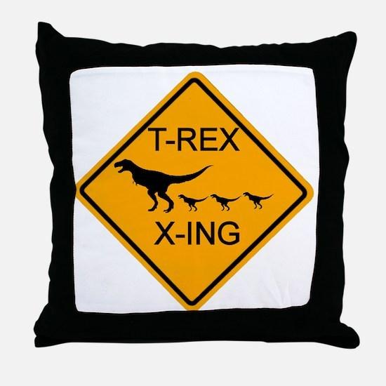 rs_T-REX X-ING Throw Pillow