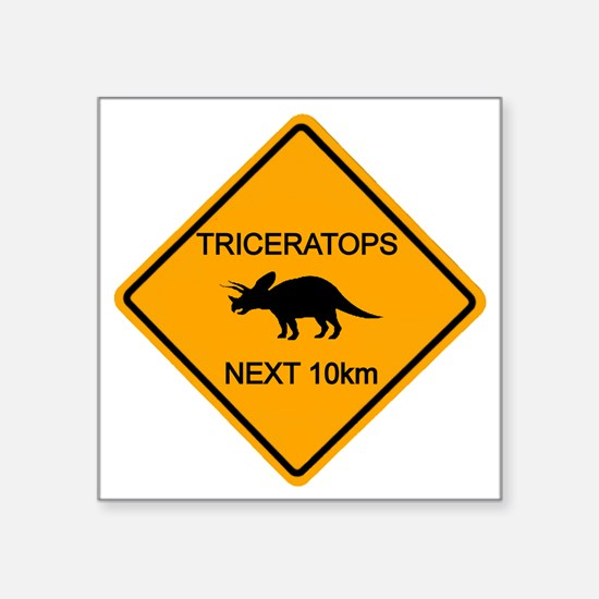 """rs_TRICERATOPS Square Sticker 3"""" x 3"""""""