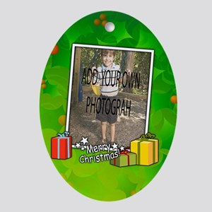 Personalized Christmas photo template Ornament (Ov