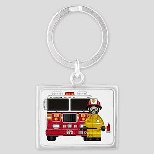 Fireman Pad5 Landscape Keychain