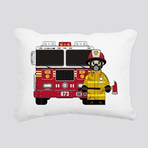Fireman Pad5 Rectangular Canvas Pillow