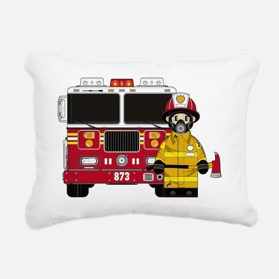 Fireman Pad5 Rectangular Canvas Pillow