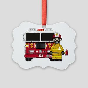 Fireman Pad5 Picture Ornament
