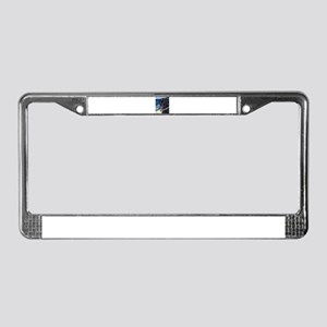Happy Black Labrador License Plate Frame