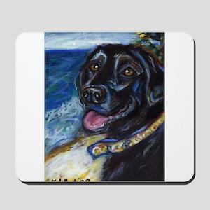 Happy Black Labrador Mousepad