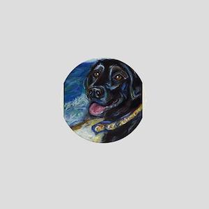 Happy Black Labrador Mini Button